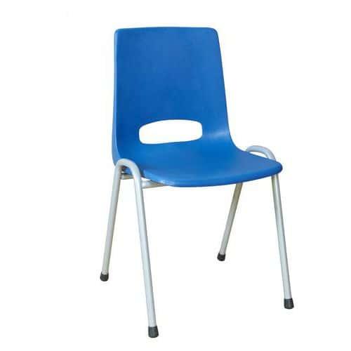Plastová jídelní židle Pavlina Grey, modrá