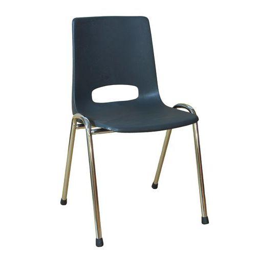 Plastová jídelní židle Pavlina Chrom, antracit