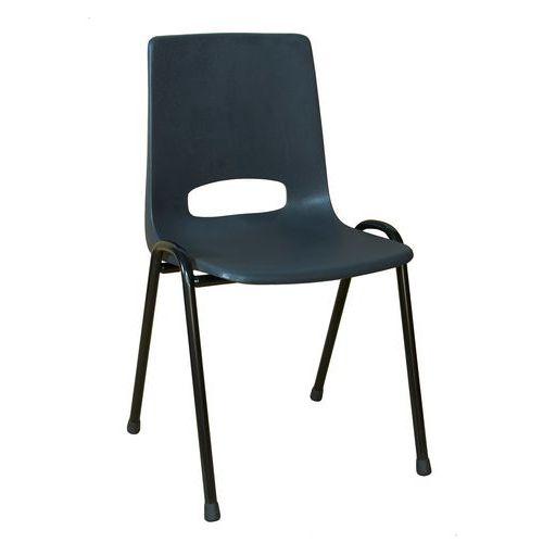 Plastová jídelní židle Pavlina Black, antracit