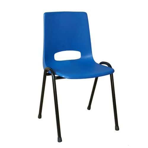 Plastová jídelní židle Pavlina Black, modrá