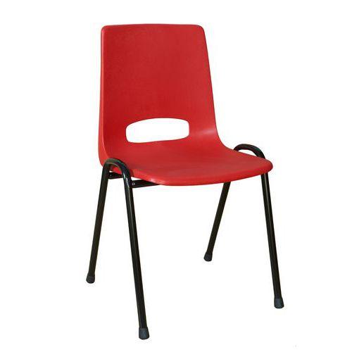 Plastová jídelní židle Pavlina Black, červená