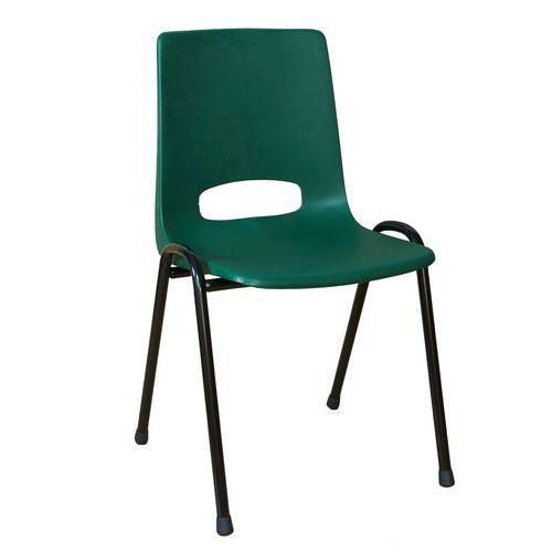 Plastová jídelní židle Pavlina Black, zelená