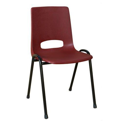 Plastová jídelní židle Pavlina Black, bordó