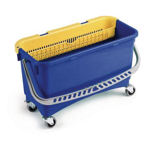 Úklidový kbelík na kolečkách s ručním ždímačem, 20 l