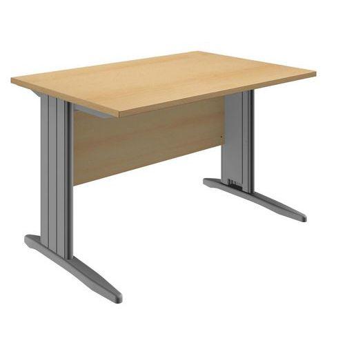 Kancelářský stůl System, 120 x 80 x 73 cm, rovné provedení, dezén buk