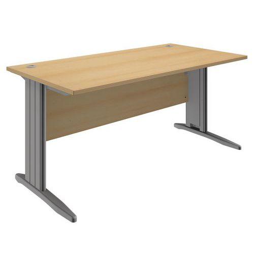 Kancelářský stůl System, 160 x 80 x 73 cm, rovné provedení, dezén buk - Prodloužená záruka na 10 let