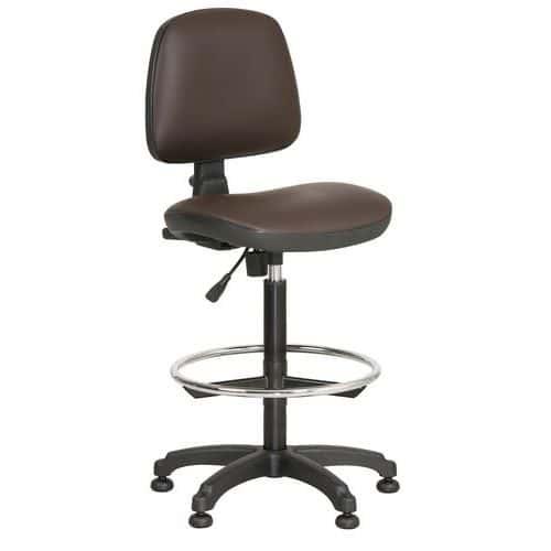 Zvýšená pracovní židle Monako plus s kluzáky, hnědá