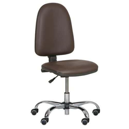 Pracovní židle Torino plus s měkkými kolečky, hnědá