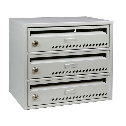 Modulová kovová poštovní schránka TG, 3 boxy