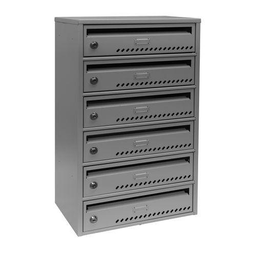 Modulová kovová poštovní schránka TG, 6 boxů