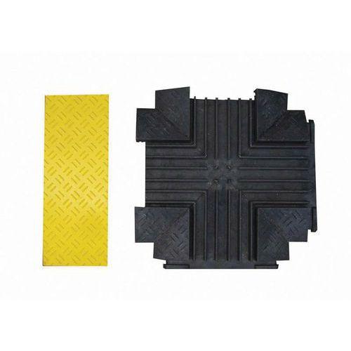Kabelový most s krytem, křižovatka, žlutý