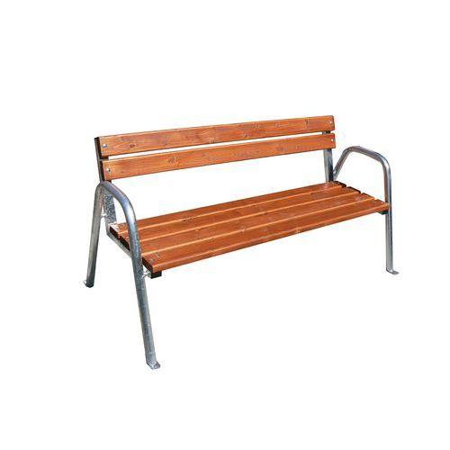 Parková lavička Vine s opěradlem a područkami