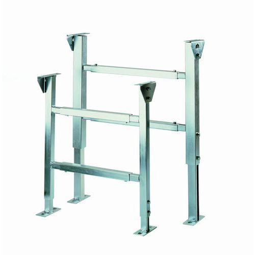Podstavné konstrukce pro pásové dopravníky, nastavitelná výška 400 - 600 mm