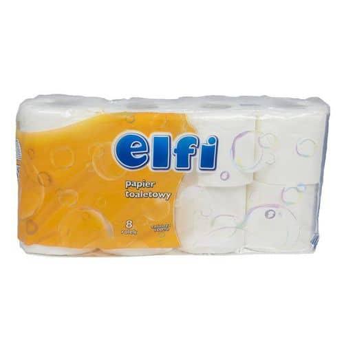 Toaletní papír Elfi 2vrstvý, 11,5 cm, 200 útržků, 100% celulóza,