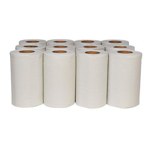 Papírové ručníky Midi Rec 2vrstvé, 50 m, bílé, 12 ks