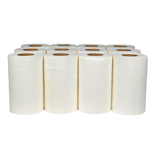 Papírové ručníky Midi 2vrstvé, 50 m, bílé, 12 ks