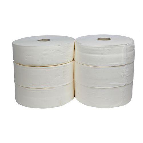 Toaletní papír Jumbo 2vrstvý, 28 cm, 250 m, 100% bílá, 6 rolí