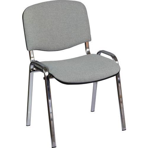 Konferenční židle ISO Chrom, šedá