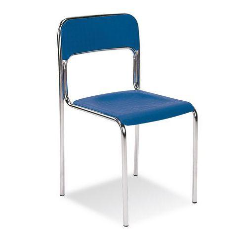 Plastová jídelní židle Cortina Chrom, modrá