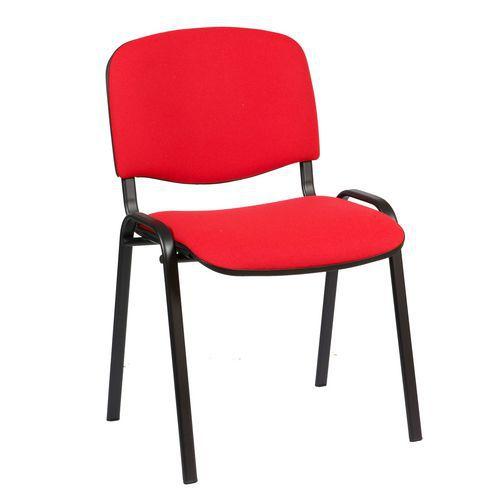 Konferenční židle ISO Black, červená