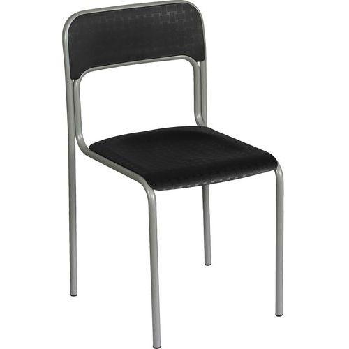Plastová jídelní židle Cortina, černá