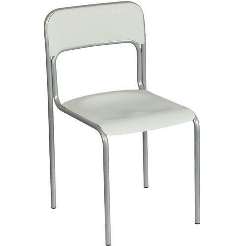 Plastová jídelní židle Cortina, šedá