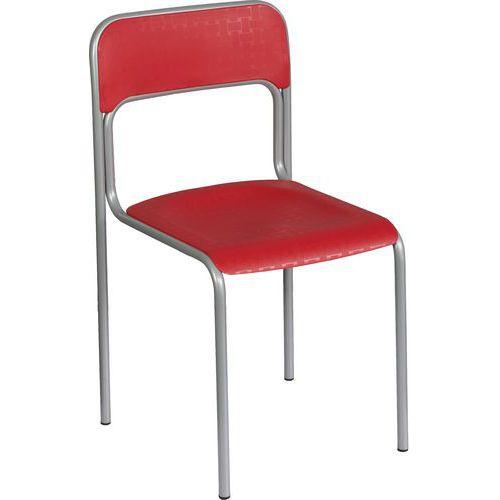 Plastová jídelní židle Cortina, červená