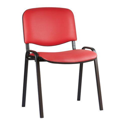 Konferenční židle ISO Leath Black, červená