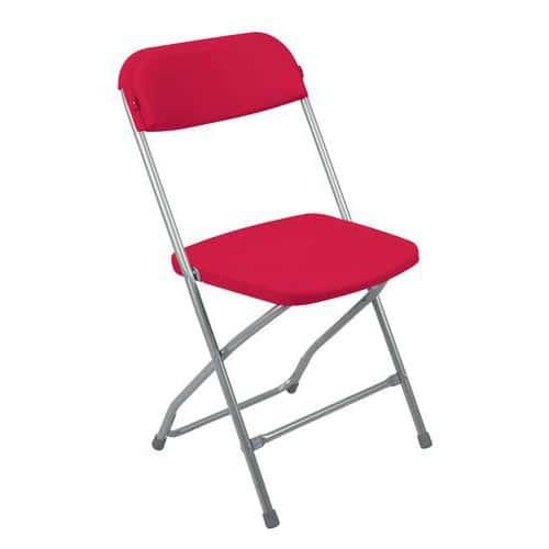 Plastová jídelní židle Poly, červená