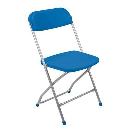 Plastová jídelní židle Poly, modrá