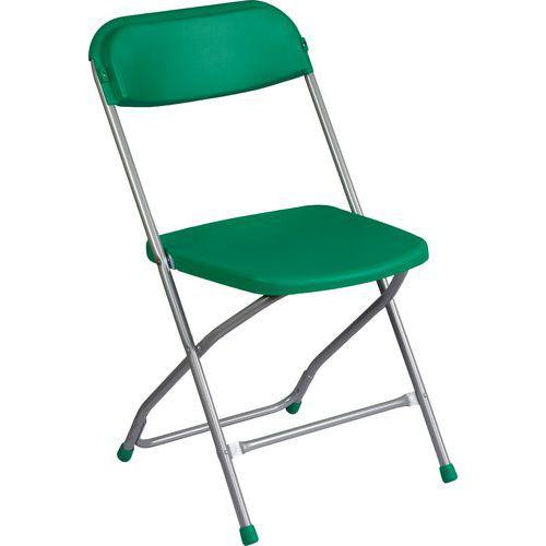 Plastová jídelní židle Poly, zelená