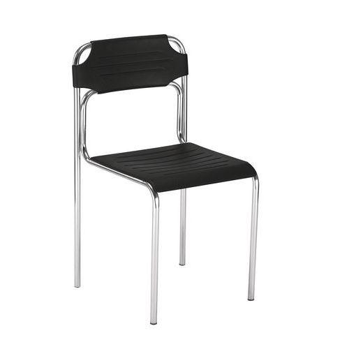 Plastová jídelní židle Cortessa, černá