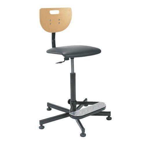 Zvýšená pracovní židle Werek Plus s kluzáky - Prodloužená záruka na 10 let