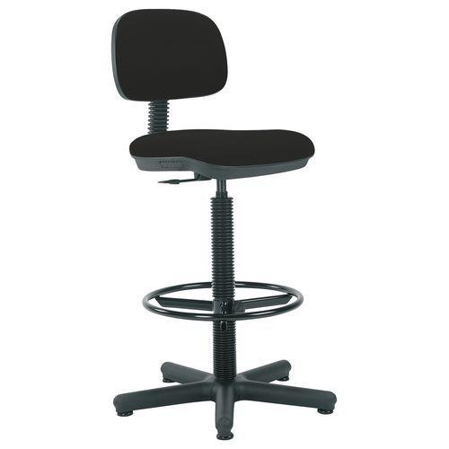 Pracovní židle Senior s kluzáky, černá