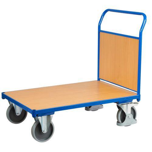 Plošinový vozík s madlem s plnou výplní, do 500 kg, 100,6 x 132,5 x 80 cm - Prodloužená záruka na 10 let