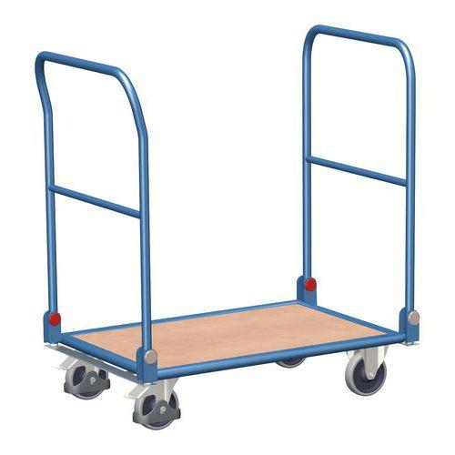 Plošinový vozík se dvěma sklopnými madly, do 150 kg - Prodloužená záruka na 10 let
