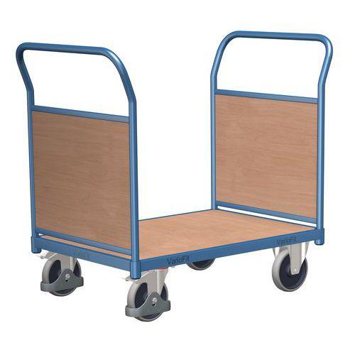 Plošinový vozík se dvěma madly s plnou výplní, do 500 kg, 100,6 x 119 x 70 cm - Prodloužená záruka na 10 let