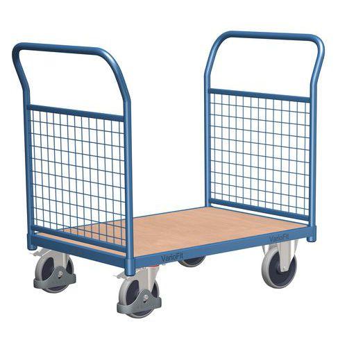 Plošinový vozík se dvěma madly s mřížovou výplní, do 400 kg
