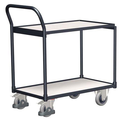 Antistatický policový vozík s madlem, do 250 kg, 2 police, 98 x