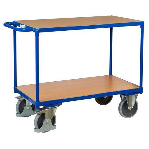 Policový vozík s madlem, do 500 kg, 2 police, 91,5 x 119 x 60 cm - Prodloužená záruka na 10 let