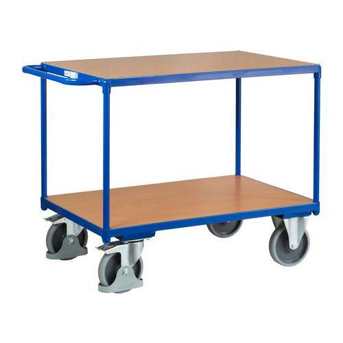 Policový vozík s madlem, do 500 kg, 2 police, 91,5 x 119 x 70 cm - Prodloužená záruka na 10 let