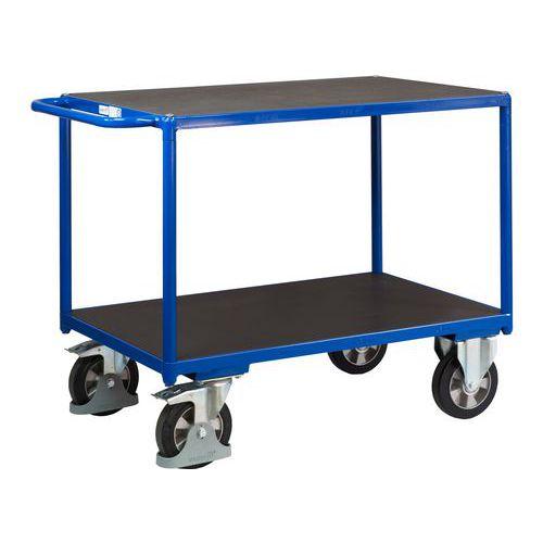 Policový vozík s madlem, do 1 000 kg, 2 police, 91,5 x 139 x 80 cm - Prodloužená záruka na 10 let
