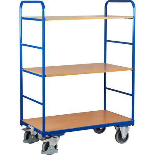 Vysoký policový vozík do 250 kg, 3 police, 106 x 60 x 153 cm