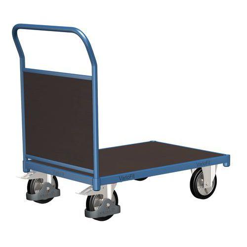 Plošinový vozík s madlem s plnou výplní, do 1 000 kg, 100,6 x 17