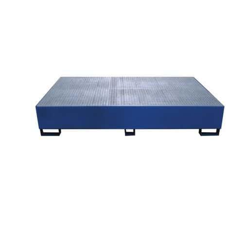 Ocelová záchytná vana pod IBC kontejnery, kapacita 1 000 l, 40 x 150 x 230 cm, zinek
