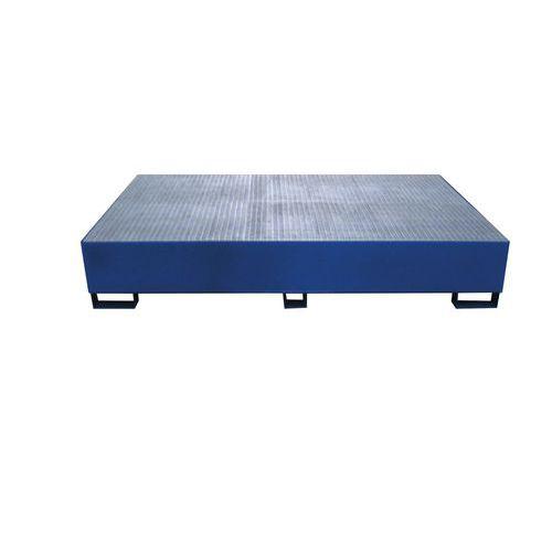 Ocelové záchytné vany pod IBC kontejnery, kapacita 1 000 l, 40 x 150 x 230 cm