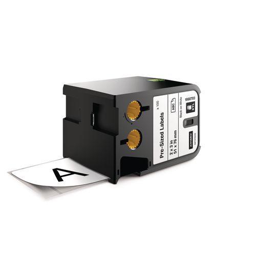 Nařezané štítky XTL, 51x76 mm, černá na bílé, kazeta 100 ks