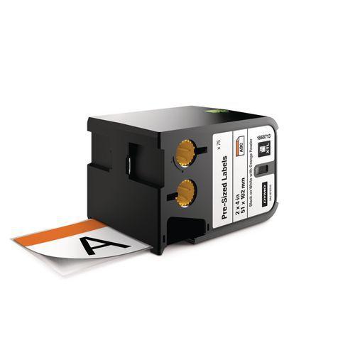 Bezpečnostní štítky XTL s oranžovou hlavičkou, 51x102 mm, černá