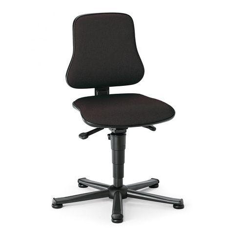 Pracovní židle Worker s kluzáky, černá