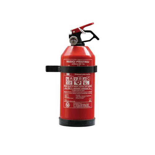 Práškový hasicí přístroj do auta, 1 kg (5A, 21B, C), CZ etiketa